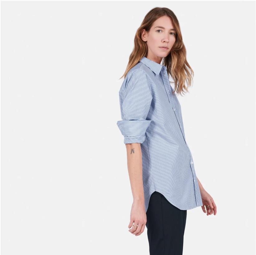 everlane poplin shirt