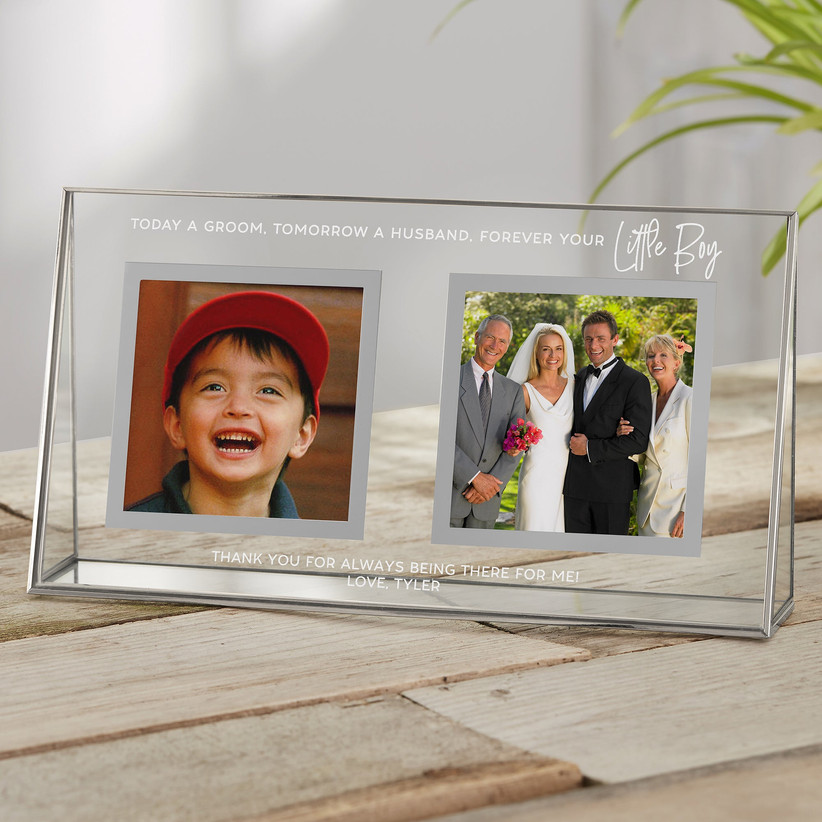 Double wedding photo frame father of the groom gift