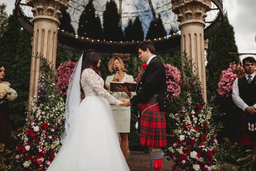 scottish wedding ceremony with microphone