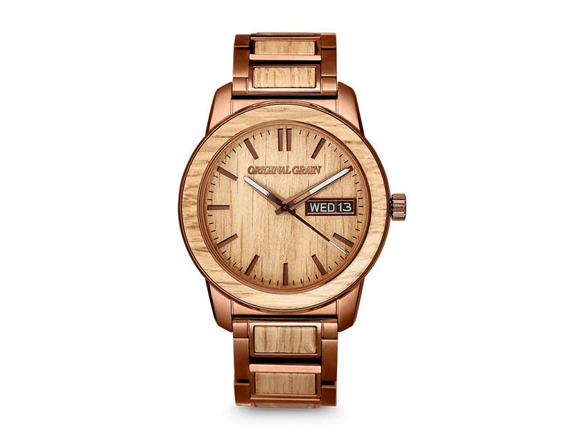 wooden barrel watch