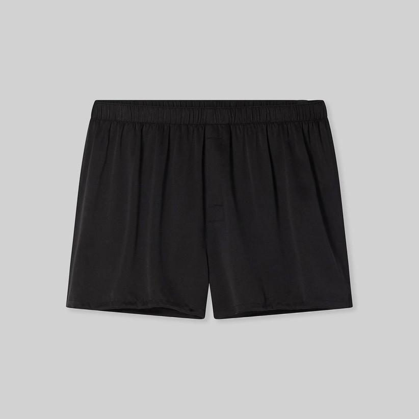 Black washable silk groom boxer underwear