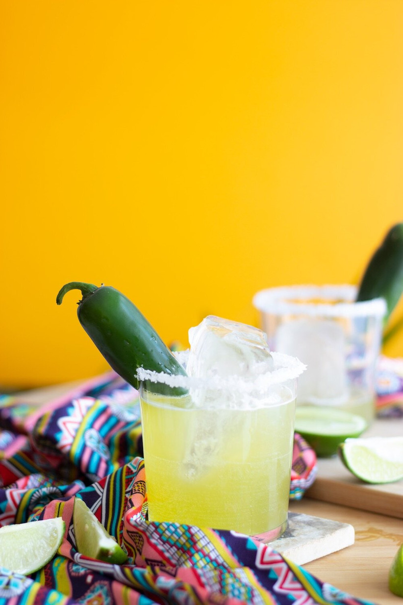 Margarita made with Cheeky Cocktails gift set