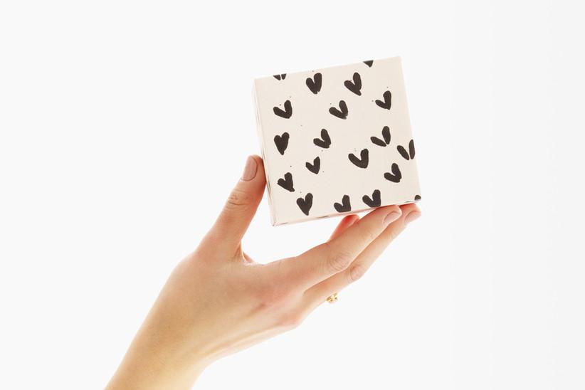 Greetabl gift box in heart print bridesmaid gift idea