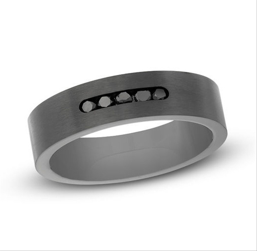 zales men's steel ring for 11th year wedding anniversary gift