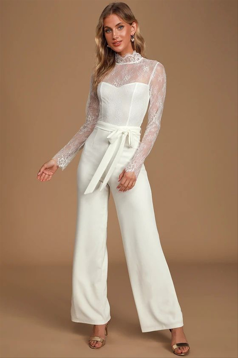 30 White Jumpsuits For Weddings That Are Cool Bride Approved