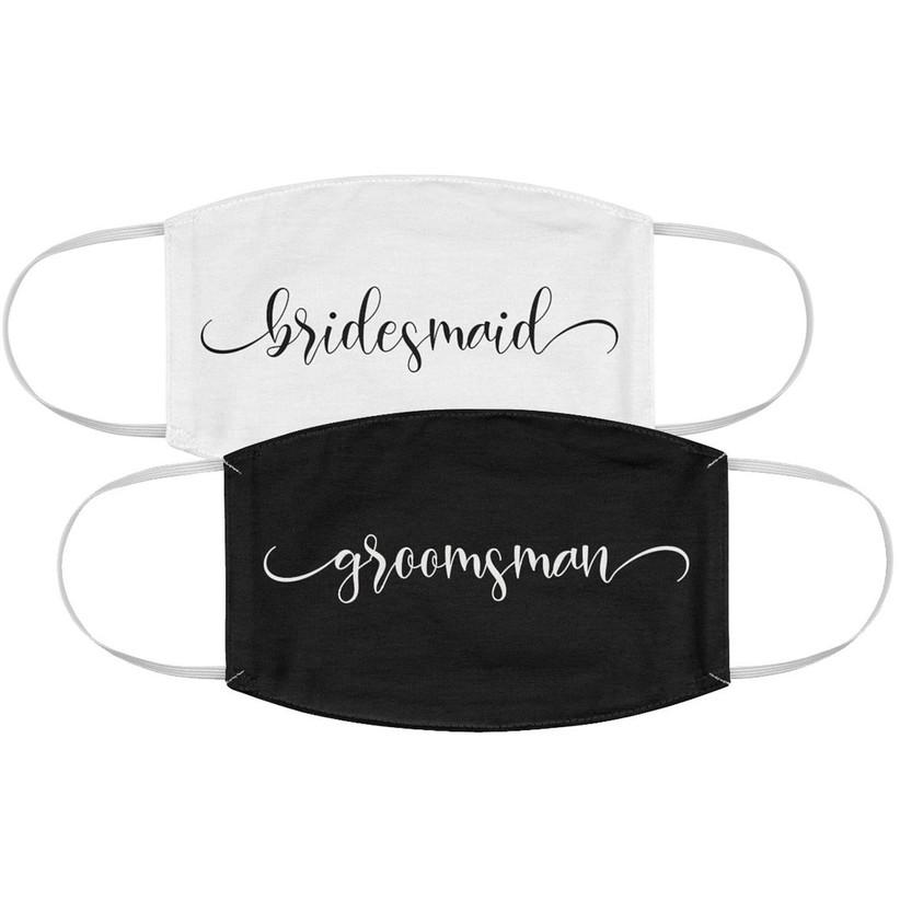 bridesmaid and groomsman face masks