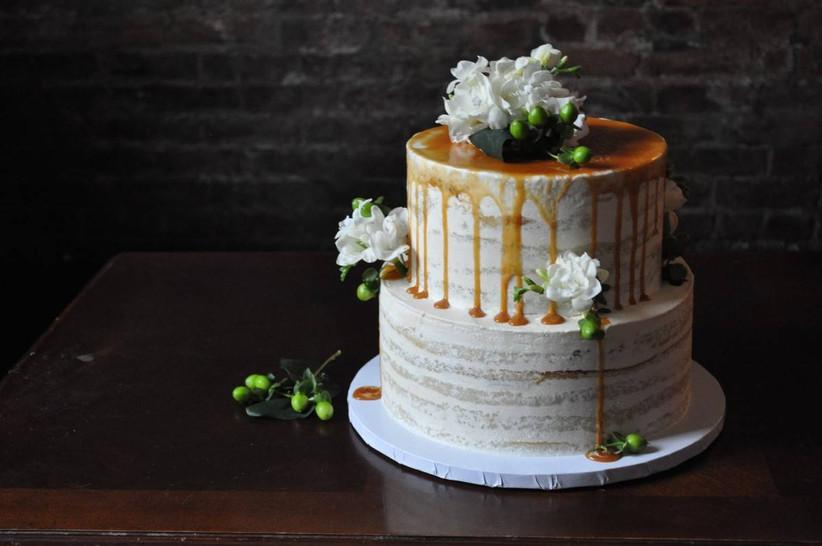 caramel wedding cake