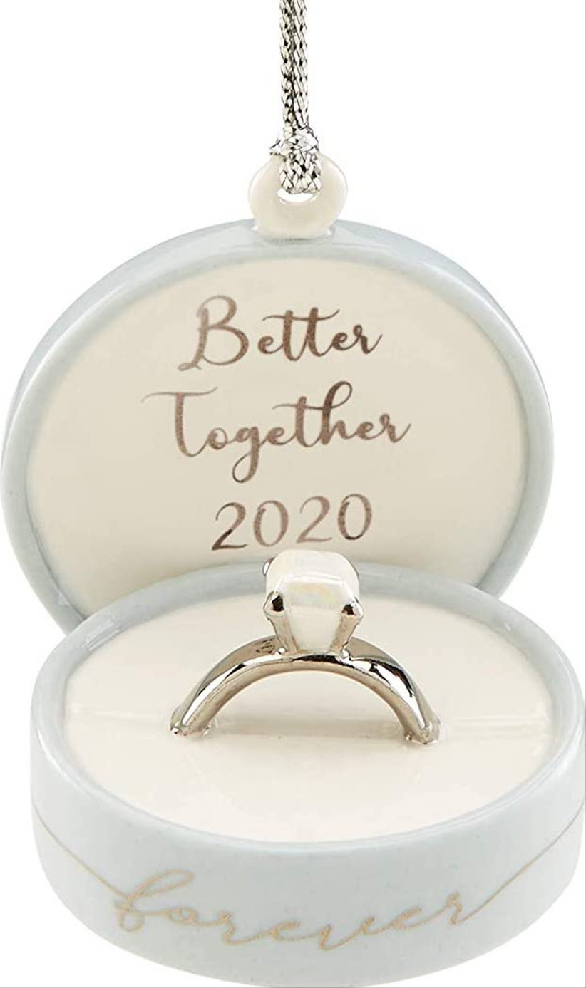 engagement ring wedding christmas ornament