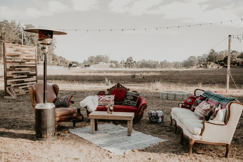 boho outdoor furniture wedding