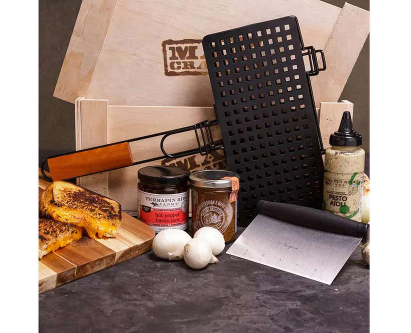 gourmet grilled cheese man crate gift box