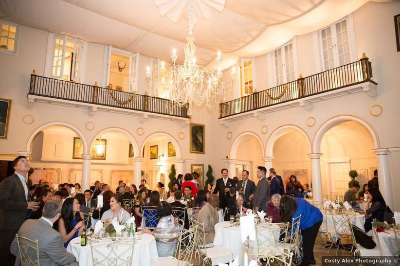 historic venue wedding reception