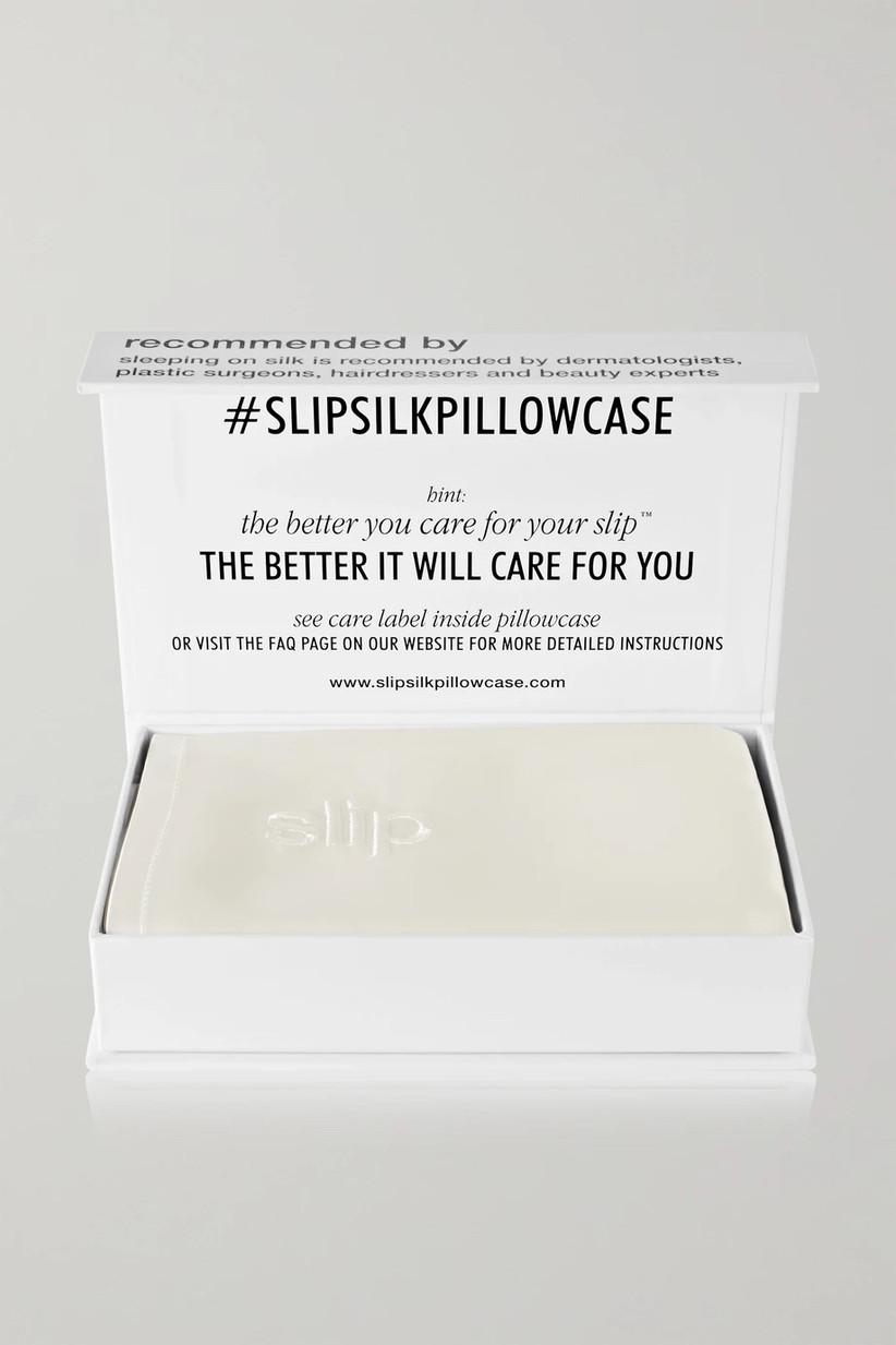 slip silk pillowcase for 12th year wedding anniversary gift