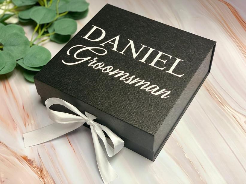 Custom groomsman proposal box