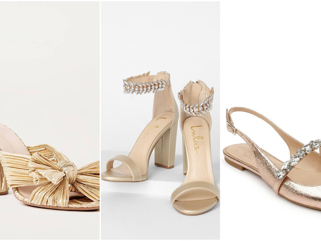 27 Gold Sandals, Heels and Flats for Your Wedding Day