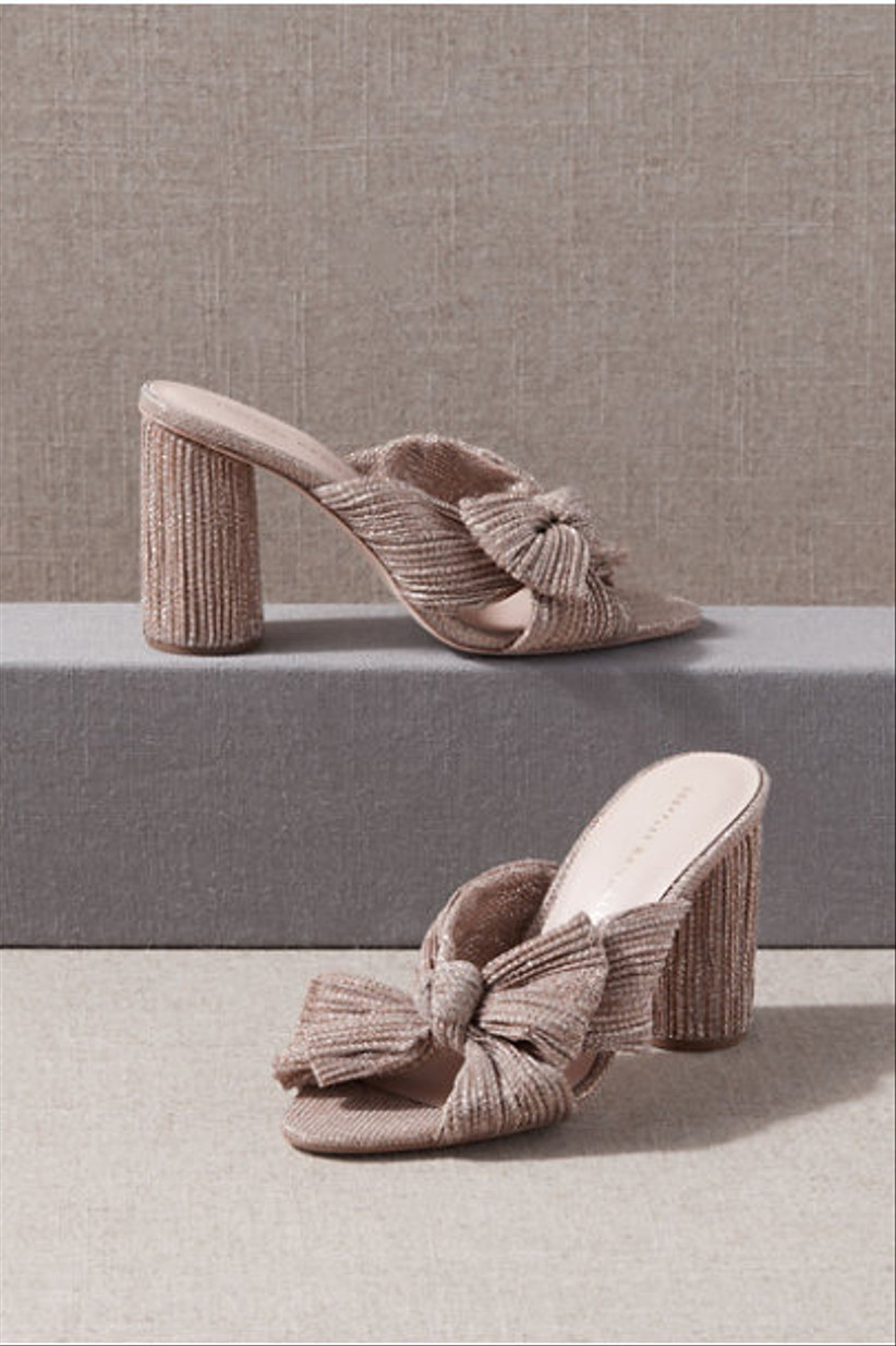 Wedding Guest Shoes mules with bow