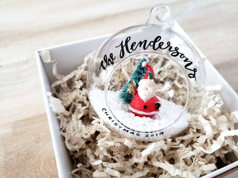 wedding christmas ornament santa