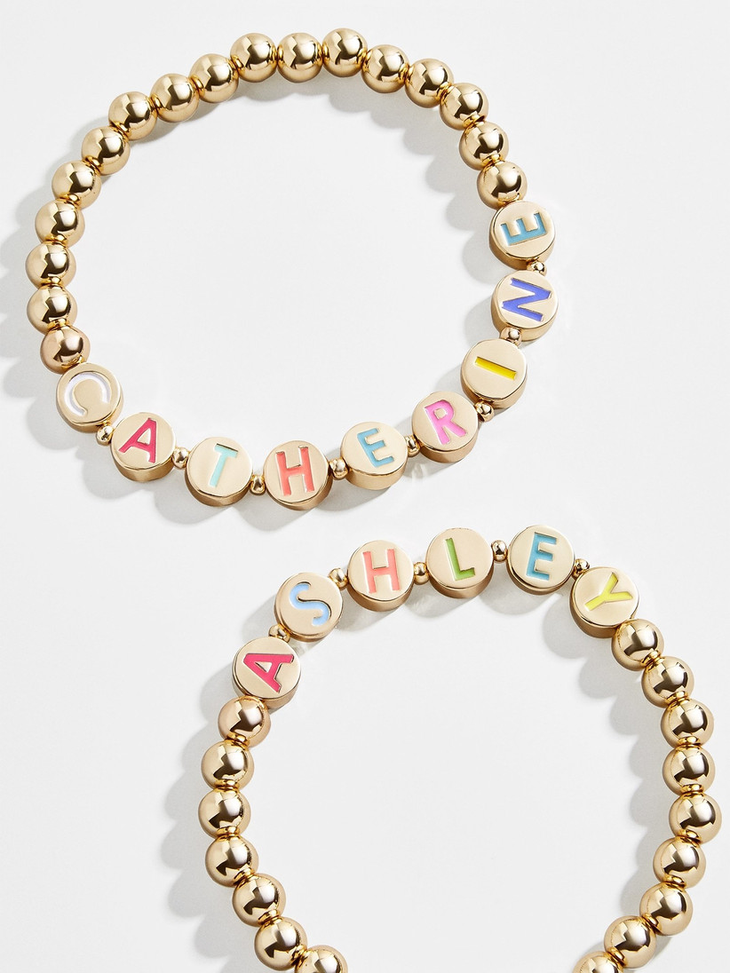 Retro BaubleBar Pisa friendship bracelets personalized with first names