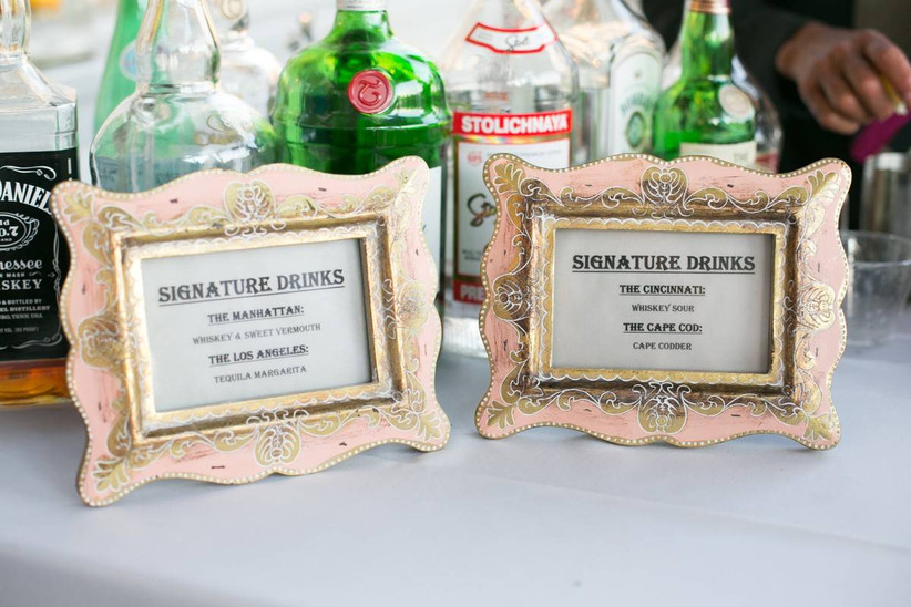 wedding drink signs