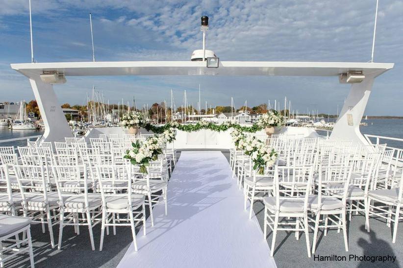 boat wedding ceremony