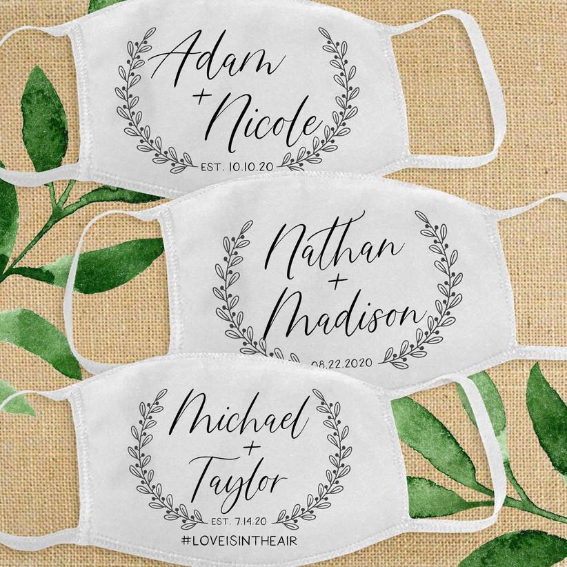 name wedding date masks
