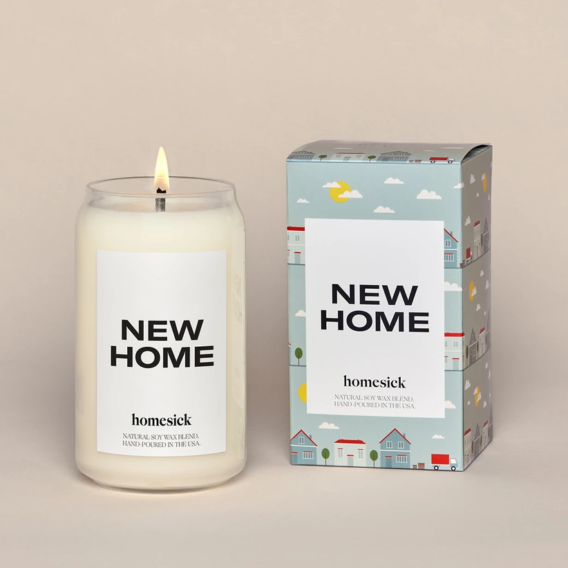New Home scented candle for couples