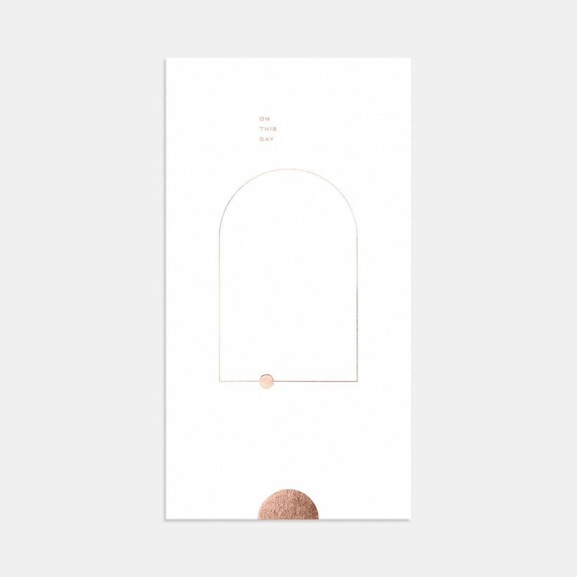 minimalist summer wedding invitation with abstract geometric shapes