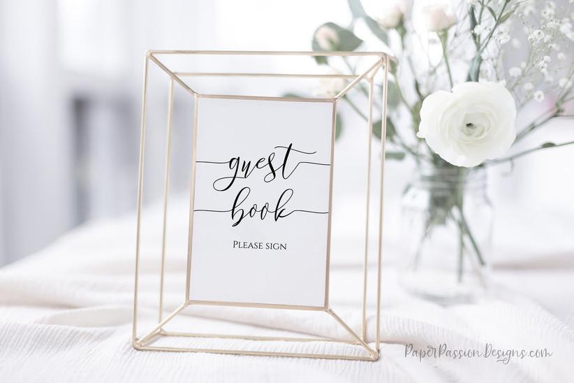 framed guest book sign