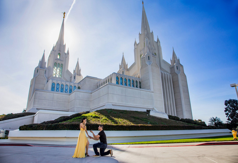 proposal at mormon temple