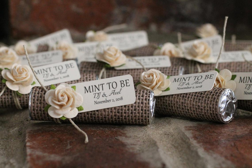 Mint to Be wedding favors for welcome bags