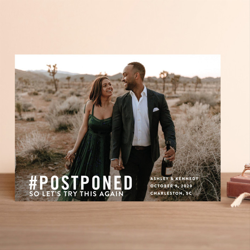 2021 wedding invitation trends change the date