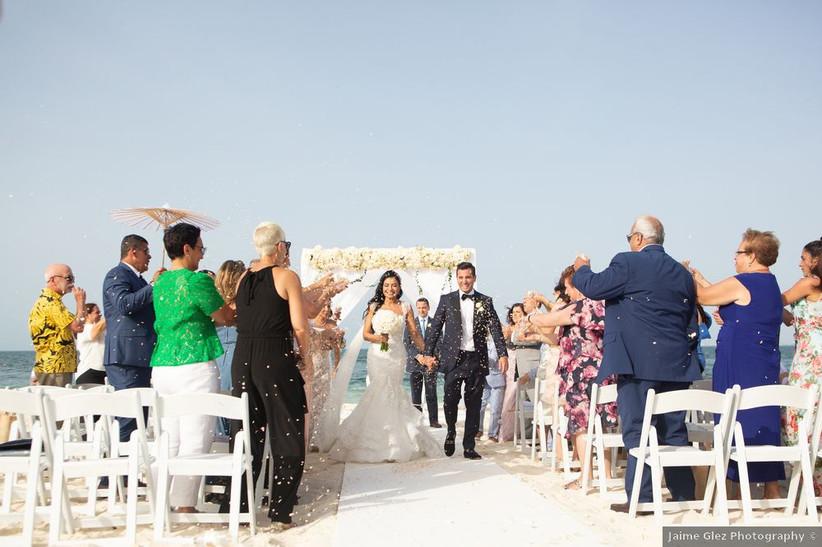 beach wedding recessional