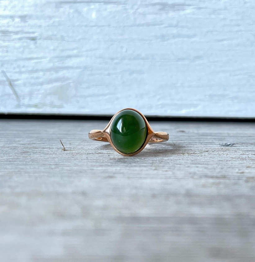 jade mine canada jade and gold ring for 12th year wedding anniversary gift