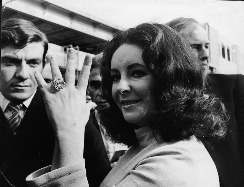 Elizabeth Taylor's engagement ring from Richard Burton