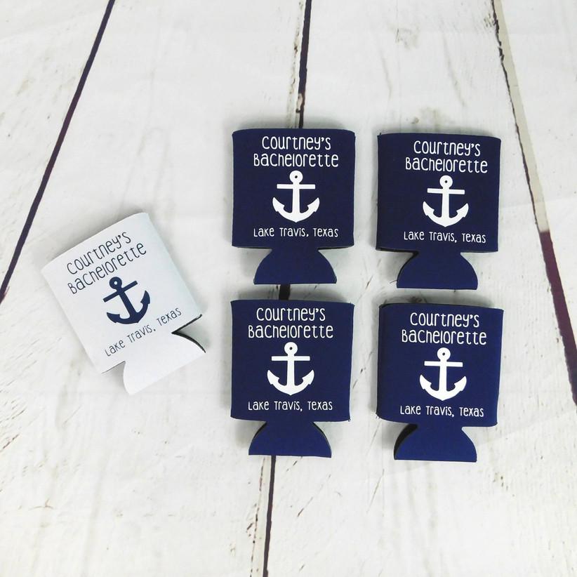 nautical bachelorette koozies