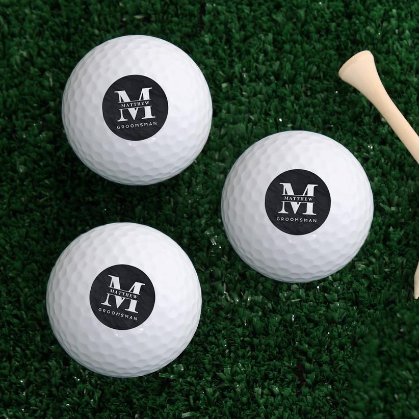 Personalized groomsmen golf balls