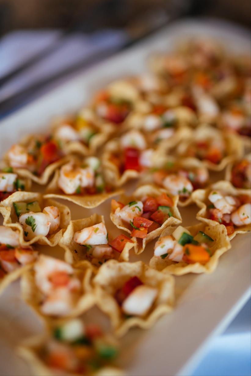 tortilla scoop chips with salsa fresca