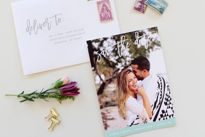 save the date card and envelope
