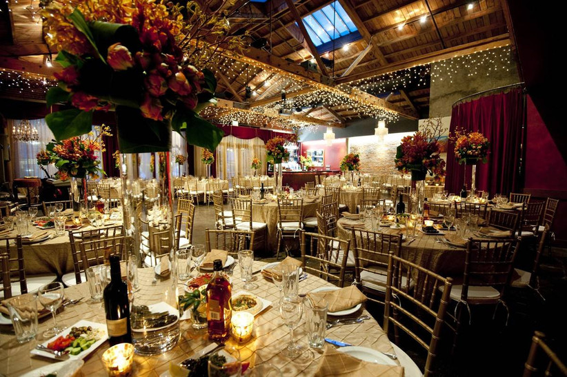indoor wedding reception