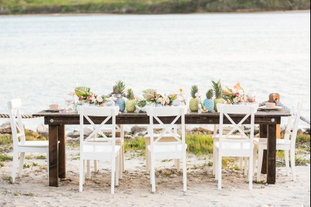 20 Beach Wedding Centerpieces for a Tropical or Nautical Theme