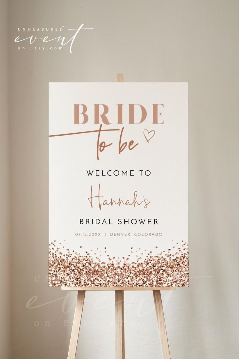confetti bridal shower sign