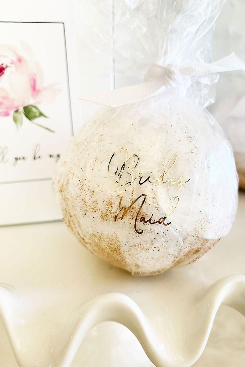 Bridesmaid bath bomb gift