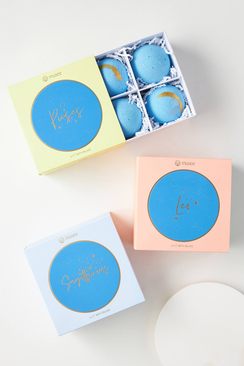 Star sign bath bombs maid of honor proposal gift idea