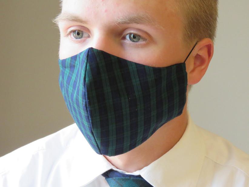 plaid mask
