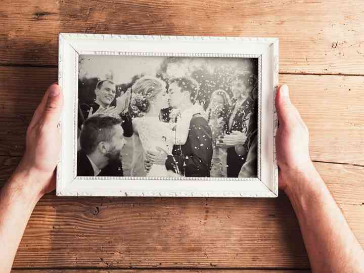 29 wedding picture frames for every style weddingwire 29 wedding picture frames for every
