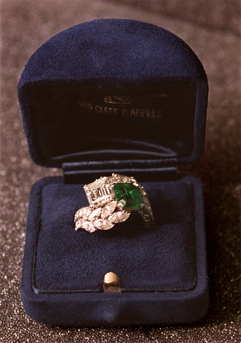 Jackie Kennedy's engagement ring