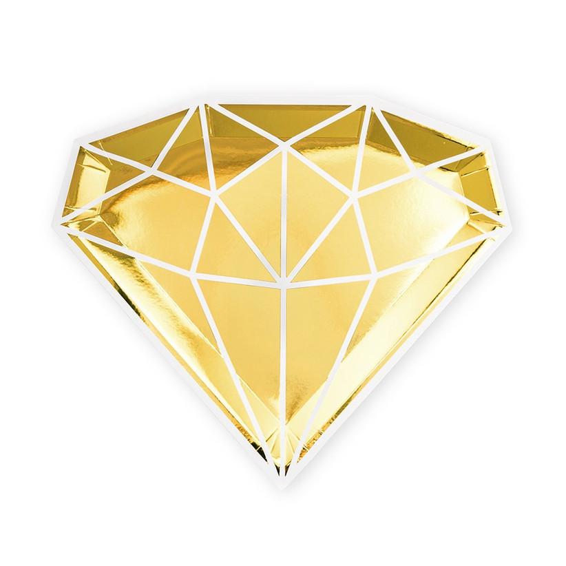 diamond paper plates
