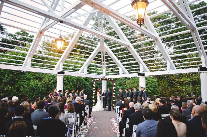 unique gazebo wedding ceremony