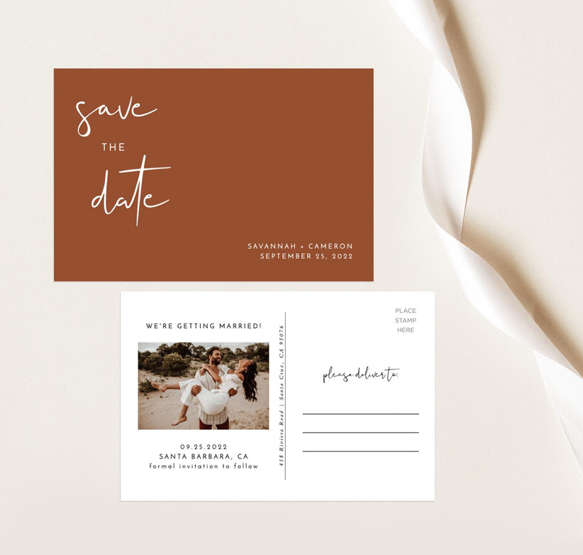 fall save the dates teracotta