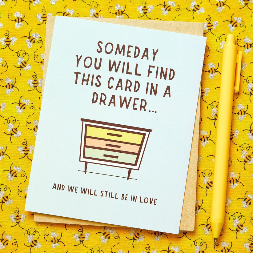 Cute wedding anniversary card for spouse