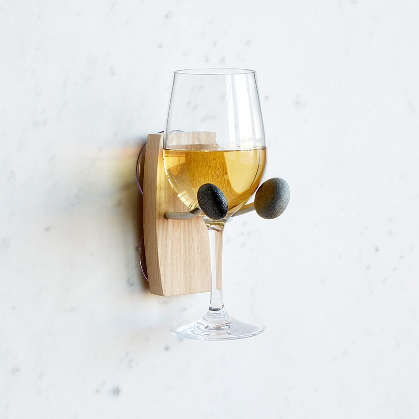 Bathtub wine glass holder gift for daughter-in-law
